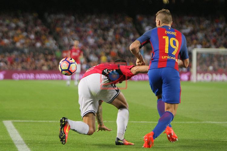 League Santander 2016/2017. Game: 3.<br /> FC Barcelona vs Deportivo Alaves: 1-2.<br /> Edgar vs Digne.