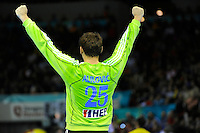 Mirko Alilovic celebrating victory against France