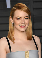 04 March 2018 - Los Angeles, California - Emma Stone. 2018 Vanity Fair Oscar Party hosted following the 90th Academy Awards held at the Wallis Annenberg Center for the Performing Arts. <br /> CAP/ADM/BT<br /> &copy;BT/ADM/Capital Pictures
