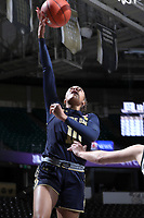 WINSTON-SALEM, NC - FEBRUARY 06: Katlyn Gilbert #10 of the University of Notre Dame shoots a layup during a game between Notre Dame and Wake Forest at Lawrence Joel Veterans Memorial Coliseum on February 06, 2020 in Winston-Salem, North Carolina.