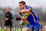 Padraig O'Sullivan South Kerry in Action against Adrian Spillane Kenmare in the County Senior Football Semi Final at Fitzgerald Stadium Killarney on Sunday.