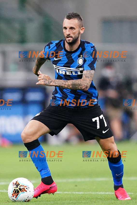 Marcelo Brozovic of FC Internazionale in action during the Serie A football match between FC Internazionale and SSC Napoli at San Siro stadium in Milano (Italy), July 28th, 2020. Play resumes behind closed doors following the outbreak of the coronavirus disease. Photo Marco Canoniero / Insidefoto