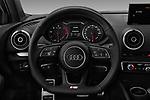 Car pictures of steering wheel view of a 2017 Audi A3 S-Line 4 Door Sedan Steering Wheel