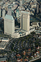 aerial view above Hotel Manchester Grand Hyatt San Diego California