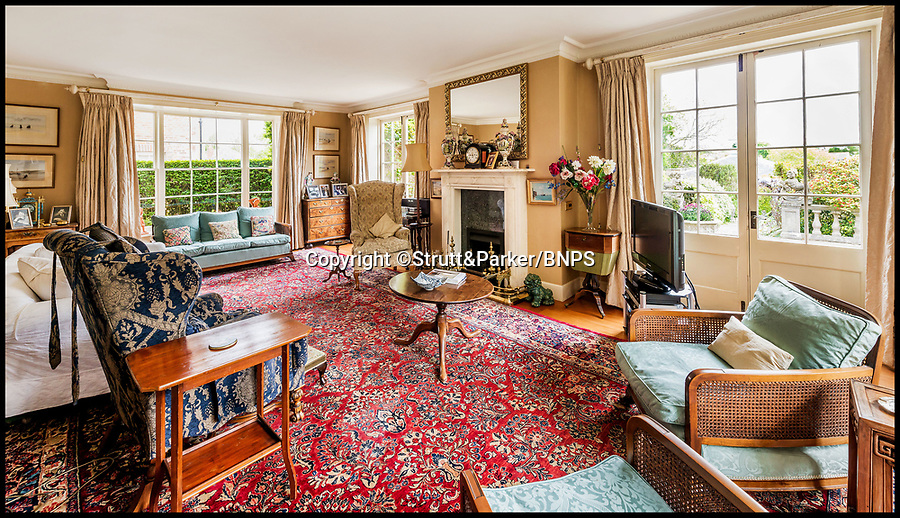 BNPS.co.uk (01202 558833)<br /> Pic: Strutt&Parker/BNPS<br /> <br /> Drawing room.<br /> <br /> Hello Sailor? - The perfect seaside residence for a lover of the sea.<br /> <br /> A luxury harbourside home with its own private dock in the back garden has launched on to the market - but you'll need a pirates treasure to afford it.<br /> <br /> £3.4million Wharf House is located in one of the country's best sailing communities in Emsworth, Hants, and is surrounded by water.<br /> <br /> From the front it has spectacular views over Chichester Harbour and at the back there is a mooring space for a large boat.