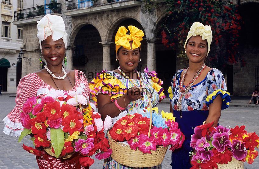 Cuba, Havana: Cuban flower girls | Kuba, Havana: Kubanische Blumenmaedchen