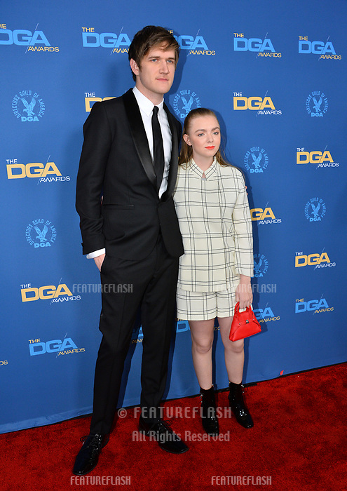 LOS ANGELES, CA. February 02, 2019: Bo Burnham & Elsie Fisher at the 71st Annual Directors Guild of America Awards at the Ray Dolby Ballroom.<br /> Picture: Paul Smith/Featureflash