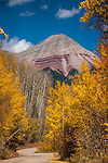 Autumn Road II: Engineer Mountain from Hermosa Park Road, Colorado