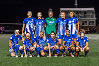 Boston, MA - Saturday September 30, 2017: Boston Breakers starting eleven during a regular season National Women's Soccer League (NWSL) match between the Boston Breakers and Sky Blue FC at Jordan Field.