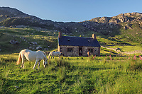 BNPS.co.uk (01202 558833)<br /> Pic: GeoffAllan/BNPS<br /> <br /> Glendhu Bothy next to the remote loch of the same name near Ullapool.<br /> <br /> Wilderness walks - new book takes you down paths less travelled in the beautiful Scottish highlands.<br /> <br /> The stunning photos reveal Scotland's best remote walks, and also provide a rudimentary roof over your head at the end of the day. <br /> <br /> Geoff Allan has spent over 30 years travelling the length and breadth of the scenic country, passing through idyllic and untouched landscapes.<br /> <br /> The routes he has selected feature secret beaches, secluded glens, hidden caves and mountains.<br /> <br /> They also include bothies - remote mountain huts - which provide overnight shelter in the wilderness.<br /> <br /> Geoff has listed his top 28 trails complete with GPS maps and descriptions in his book Scottish Bothy Walks.