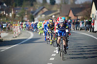 ALWAYS to be found leading the bunch in the first 100km of a race: Iljo Keisse (BEL/Etixx-QuickStep)<br /> <br /> 71st Omloop Het Nieuwsblad 2016