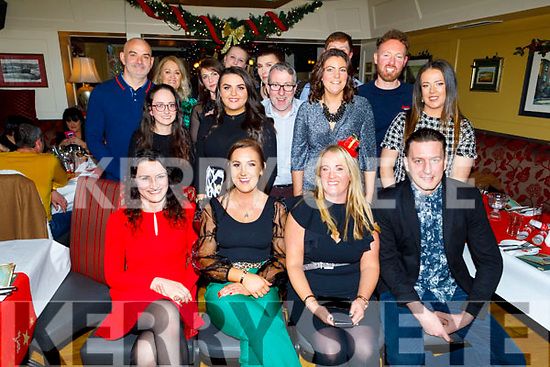 The staff of Homestore and More enjoying their Christmas party in the Brogue Inn on Saturday.