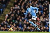 3rd December 2017, Etihad Stadium, Manchester, England; EPL Premier League football, Manchester City versus West Ham United; Eliaquim Mangala of Manchester City passes the ball