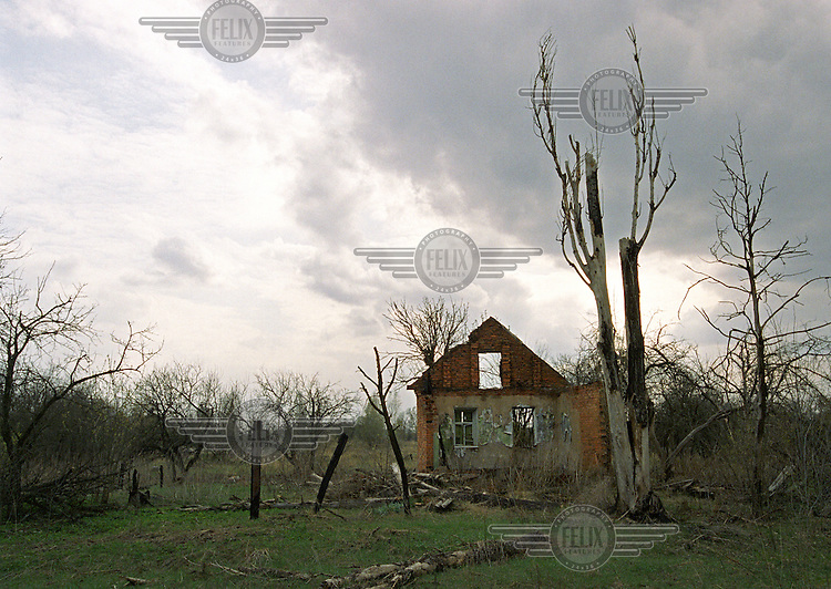 A derelict house in the ghost town of Smersk, in an area where the radioactive fallout was greater than in Chernobyl itself. The health and environmental impacts following the nuclear accident in April 1986 have been devastating, with many people being forced to move away from the region where their families had lived for generations. Cancer and related illnesses, along with the ecological imbalances which are the result of radioactivity, have affected almost the entire local population.
