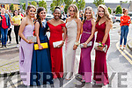 Students from Coláiste Ide agus Iosef Abbeyfeale gathered in the Square last Sunday afternoon prior to boarding the busses that transported them to their Debs Ball at the Raddison Blu Hotel Limerick from left: Stephane Woulfe, Cloe Smith, Amanda Tony, Cathy Johnson, Katelynn Bunworth, Ella Morris.