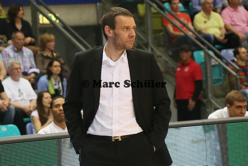Trainer Michael Koch (Bayreuth )- Fraport Skyliners vs. medi Bayreuth, Fraport Arena Frankfurt