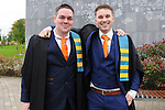 23/10/2015  Pictured at the recent Mary Immaculate College conferring ceremonies were Sean Breathnach and Kevin Kelly, Carraroe, Co. Galway who both graduated with a Graduate Diploma in Primary Teaching. 625 students from 20 counties and 3 continents were conferred with academic awards across the College&rsquo;s 27 programmes including the College&rsquo;s 100th PhD award.<br /> Pic: Gareth Williams / Press 22<br /> <br /> Press Release: 23rd October 2015Education is a movement of formation that enables the individual to play their role in transforming society for the common good.100th PhD Graduate Conferred at Mary Immaculate CollegeEducation is a movement of formation that enables the individual to play their role in transforming society for the common good according to Prof. Michael A Hayes, President of Mary Immaculate College, who was speaking at the College&rsquo;s conferring ceremonies today Friday 23rd October. The quality of advanced scholarship at Mary Immaculate College was evident on the day as the 100th PhD graduate was conferred along with close on 650 students from 20 counties and 3 continents all of whom graduated with academic awards across the College&rsquo;s 27 programmes. Congratulating all those graduating the President said &ldquo;These ceremonies mark the high point of the College&rsquo;s year as we acknowledge the achievement of our students. The ceremonies this year are particularly special as we mark the conferring of our 100th PhD Graduate &ndash; this is a very proud achievement for us as a College and I want to congratulate those who have received these doctorates and my colleagues who supervised their work&rdquo;. Not only were students conferred with awards on undergraduate, diploma, graduate diploma and master programmes but this year marked the first graduation of students from the Certificate in General Learning &amp; Personal Development, a programme  for people with intellectual disabilities.&ldquo;Working with students with intellectual disabilities and offering them a third level experi