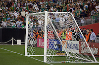 Empty net before the game. USA 2, Mexico 0, at the University of Phoenix Stadium in Glendale, AZ on February 7, 2007.