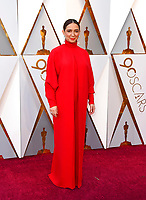 Maya Rudolph arrives at the Oscars on Sunday, March 4, 2018, at the Dolby Theatre in Los Angeles. (Photo by Jordan Strauss/Invision/AP)