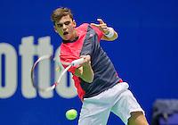 Rotterdam,Netherlands, December 15, 2015,  Topsport Centrum, Lotto NK Tennis, Paul Monteban (NED)<br /> Photo: Tennisimages/Henk Koster