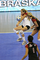 16 December 2006: Stanford Cardinal Jessica Fishburn during Stanford's 30-27, 26-30, 28-30, 27-30 loss against the Nebraska Huskers in the 2006 NCAA Division I Women's Volleyball Final Four Championship match at the Qwest Center in Omaha, NE.