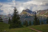 Along Crater Lake Trail in the San Juan Mountains north of Durango, Colorado