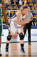 11 November 2011:  FIU's Zsofia Labady (3) signals to a teammate in the first half as the FIU Golden Panthers defeated the Jacksonville University Dolphins, 63-37, at the U.S. Century Bank Arena in Miami, Florida.