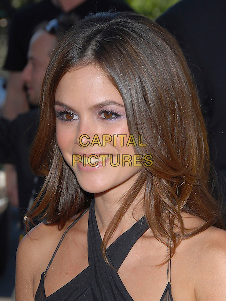 RACHEL BILSON.At The 2006 Teen Choice Awards - Arrivals, .held at The Universal Ampitheatre in Universal City, California, USA, August 20th 2006..portrait headshot black halterneck dress cross-over .Ref: DVS.www.capitalpictures.com.sales@capitalpictures.com.©Debbie VanStory/Capital Pictures