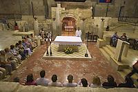Asie/Israël/Galilée/Nazareth: Basilique de l'Annonciation - la crypte avec la grotte ou l'ange Gabriel serait apparu à Marie