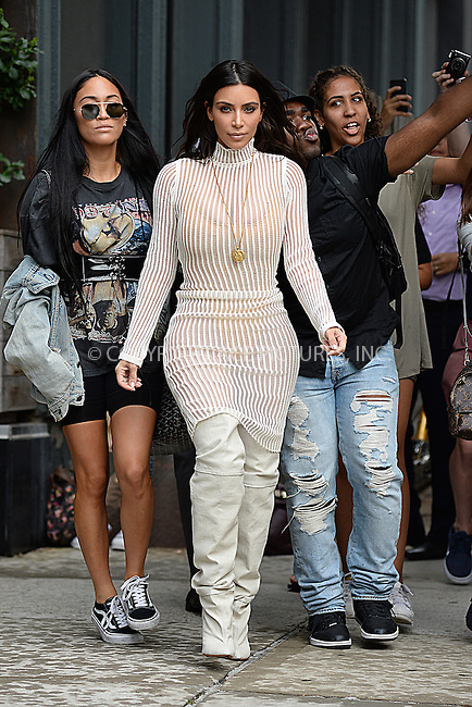 www.acepixs.com<br /> September 7, 2016 New York City<br /> <br /> Kim Kardashian seen in New York City on September 7, 2016.<br /> <br /> Credit: Kristin Callahan/ACE Pictures<br /> <br /> tel: 646 769 0430<br /> Email: info@acepixs.com