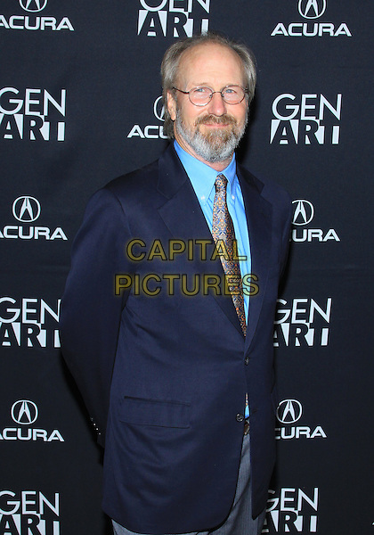 "WILLIAM HURT.Los Angeles Premiere of ""The Yellow Handkerchief""  held at  Pacific Design Center, West Hollywood, California, USA.  .February 18th, 2010.half length suit jacket blue shirt tie beard facial hair glasses navy.CAP/ADM/TC.©T. Conrad/AdMedia/Capital Pictures.."