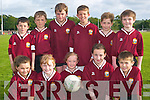 Sports day: Taking part in the John B Keane League Finals at the Frank Sheehy Park in Listowel on Friday evening were front l-r Olivia Stack, Rachel Costello, Laney Clancy, Sarah Broderick and Cian McCarthy. Back l-r Ashley Kelliher, Jack Donovan, Andrew Purcell, Jack Healy, Sean Keane and Daniel Sheehan.   Copyright Kerry's Eye 2008