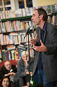 Author Will Self reads from his novel Umbrella, which has been shortlisted for the 2012 Man Booker prize, at the occupied Friern Barnet library.