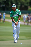 Hideki Matsuyama (JPN) lips out his birdie attempt on 12 during round 2 of the WGC FedEx St. Jude Invitational, TPC Southwind, Memphis, Tennessee, USA. 7/26/2019.<br /> Picture Ken Murray / Golffile.ie<br /> <br /> All photo usage must carry mandatory copyright credit (© Golffile | Ken Murray)