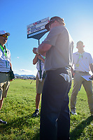 Charley Hoffman (USA) signs a ball to present to the staff following Sunday's round 4 of the 117th U.S. Open, at Erin Hills, Erin, Wisconsin. 6/18/2017.<br /> Picture: Golffile | Ken Murray<br /> <br /> <br /> All photo usage must carry mandatory copyright credit (&copy; Golffile | Ken Murray)
