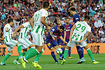 League Santander 2017/2018. Game: 01.<br /> FC Barcelona vs Real Betis: 2-0.<br /> Lionel Messi vs Juanjo Narvaez.