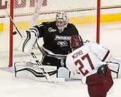Hayden Hawkey (PC - 31), Graham McPhee (BC - 27) - The Boston College Eagles defeated the visiting Providence College Friars 3-1 on Friday, October 28, 2016, at Kelley Rink in Conte Forum in Chestnut Hill, Massachusetts.The Boston College Eagles defeated the visiting Providence College Friars 3-1 on Friday, October 28, 2016, at Kelley Rink in Conte Forum in Chestnut Hill, Massachusetts.