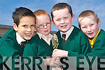 Comhra champs: Eric De Barra, Mikey O Duinn, Caomhin O Conchur and Caomhan O Dalaigh from Gaelscoil Lios Tuathail who championed at Beal Beo during Seactain na Gaeilge.   Copyright Kerry's Eye 2008