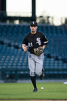 AZL White Sox third baseman Alex Maloney (21) jogs off the field between innings of the game against the AZL Cubs on August 13, 2017 at Sloan Park in Mesa, Arizona. AZL White Sox defeated the AZL Cubs 7-4. (Zachary Lucy/Four Seam Images)