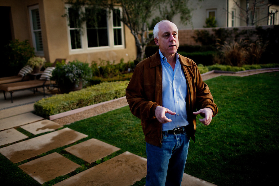 CREDIT: Daryl Peveto / LUCEO for The Wall Street Journal.Assignment & Slug: 10402..Walnut, California, February 4, 2011 - A portrait of Ken Campbell, CEO of Standard Pacific Homes, at the company's Three Oaks developments in Walnut (west of Los Angeles). Mr. Campbell came to StanPac, as the company in known in the industry, in 2008 with no home-building experience. StanPac is the only builder spending millions - some $500 million since mid 2009 - on raw, undeveloped land, betting that it will increase in value once the market returns.