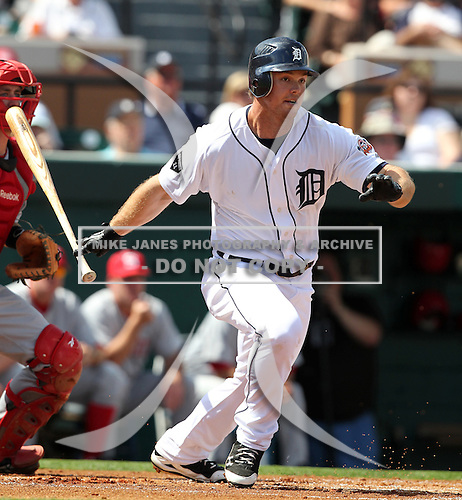 Detroit Tigers Brennan Boesch #26 during a exhibition game vs. the Florida Southern Mocs at Joker Marchant Stadium in Lakeland, Florida;  February 25, 2011.  Detroit defeated Florida Southern 17-5.  Photo By Mike Janes/Four Seam Images