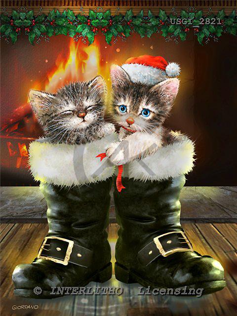 GIORDANO, CHRISTMAS ANIMALS, WEIHNACHTEN TIERE, NAVIDAD ANIMALES, paintings+++++,USGI2821,#XA#