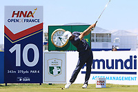 Trevor Immelman (RSA) on the 10th tee during Round 1 of the HNA Open De France at Le Golf National in Saint-Quentin-En-Yvelines, Paris, France on Thursday 28th June 2018.<br /> Picture:  Thos Caffrey | Golffile