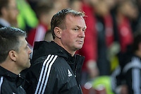 Northern Ireland manager Michael O'Neill ahead of the International Friendly match between Wales and Northern Ireland at Cardiff City Stadium, Cardiff, Wales on 24 March 2016. Photo by Mark  Hawkins / PRiME Media Images.