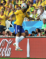 SAO PAULO - BRASIL -12-06-2014.Marcelo jugador de Brasil en accion, juego entre Brasil y Croacia  en partido del Grupo A de la fase inicial jugado en el estadio Arena Corinthians en Sao Paulo por la Copa Mundial de la FIFA Brasil 2014./ Marcelo player of Barzil in action  game between Brazil and Croatia during the match of Group A of the initial phaseplayed at Arena Corinthians in Sao Paulo for the 2014 FIFA World Cup Brazil. Photo: VizzorImage / Alfredo Gutierrez / Contribuidor