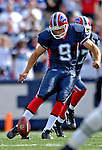30 September 2007: Buffalo Bills kicker Rian Lindell kicks off against the New York Jets at Ralph Wilson Stadium in Orchard Park, NY. The Bills defeated the Jets 17-14 for their first win of the 2007 season...Mandatory Photo Credit: Ed Wolfstein Photo