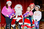 Meeting Santa and his wife Mrs Claus at Ballygarry House hotel, Tralee last Wednesday Nov 27th were L-R L-R Clodagh, Roisin and Keely Flaherty from Ardfert.