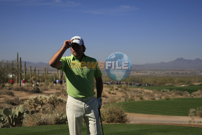 Graeme McDowell (N.IRL) waits to tee off on the 1st tee during Day 3 of the Accenture Match Play Championship from The Ritz-Carlton Golf Club, Dove Mountain, Friday 25th February 2011. (Photo Eoin Clarke/golffile.ie)