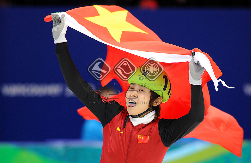 Meng Wang (CHN) Gold medalist<br /> Short Track Speed Skating / 500m <br /> Olympics - Winter / Vancouver 2010<br /> Vancouver Canada 12 - 28 February<br /> &copy; Sport the library/Jeff Crow