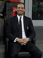 Calcio, Serie A: Inter - Juventus, Milano, stadio Giuseppe Meazza (San Siro), 28 aprile 2018.<br /> Juventus' coach Massimiliano Allegri waits for the start of the Italian Serie A football match between Inter Milan and Juventus at Giuseppe Meazza (San Siro) stadium, April 28, 2018.<br /> UPDATE IMAGES PRESS/Isabella Bonotto